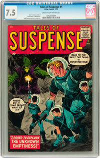 Tales of Suspense #1 (Marvel, 1959) CGC VF- 7.5 Cream to off-white pages