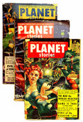 Pulps:Science Fiction, Planet Stories Group (Fiction House, 1948-57) Condition: AverageVG.... (Total: 12 )