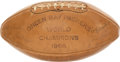 Football Collectibles:Balls, 1966 Green Bay Packers Team Signed Football....