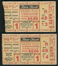 Baseball Collectibles:Tickets, 1948 World Series Game 1 Ticket Stubs Lot of 2....