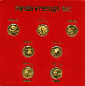 China, China: People's Republic gold 1/10 Ounce Prestige Panda Set 1982-1987,... (Total: 7 coins)