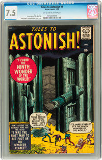 Tales to Astonish #1 (Marvel, 1959) CGC VF- 7.5 Off-white to white pages