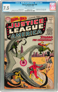 Silver Age (1956-1969):Superhero, The Brave and the Bold #28 Justice League of America (DC, 1960) CGCVF- 7.5 Cream to off-white pages....