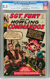 Sgt. Fury and His Howling Commandos #1 (Marvel, 1963) CGC VF+ 8.5 Off-white to white pages