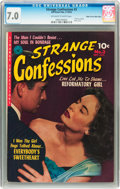Golden Age (1938-1955):Romance, Strange Confessions #3 Mile High pedigree (Ziff-Davis, 1952) CGCFN/VF 7.0 Off-white to white pages....