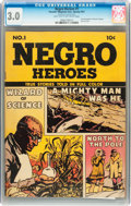 Golden Age (1938-1955):Non-Fiction, Negro Heroes #1 (Parents' Magazine Institute, 1947) CGC GD/VG 3.0Light tan to off-white pages....