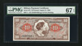 Military Payment Certificates:Series 641, Series 641 $10 PMG Superb Gem Unc 67 EPQ.. ...