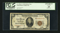 Low Serial Number Fr. 1870-C* $20 1929 Federal Reserve Bank Note. PCGS Apparent Very Fine 25
