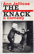 Books:First Editions, Ann Jellicoe. The Knack. London: Faber and Faber, [1962].First edition, first printing. Octavo. Publisher's binding...