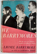 Books:First Editions, Lionel Barrymore. We Barrymores. New York: Grosset &Dunlap, [1951]. Later edition. Octavo. Publisher's binding ...
