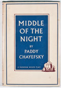 Books:First Editions, Paddy Chayefsky. Middle of the Night. New York: RandomHouse, [1957]. First edition, first printing. Octavo. Publish...