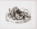 Antiques:Posters & Prints, Thomas Landseer, engraver. Six Engravings of Leopards FromTwenty Engravings of Lions, Tigers, Panthers & Leopards.... (Total: 6 Items)