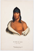 Antiques:Posters & Prints, McKenney & Hall. Three Wonderful Hand-Colored LithographicPortraits of Native Americans. [Philadelphia: D. Rice and...(Total: 3 Items)