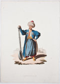 Antiques:Posters & Prints, John Heaviside Clark, engraver. Four Exquisite Aquatint Plates FromMilitary Costume of Turkey. London: Thomas McLea... (Total:4 Items)