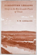 Books:First Editions, V. W. Lehmann. SIGNED by the illustrator, Jose Cisneros.Forgotten Legions: Sheep in the Rio Grande Plain of Texas....