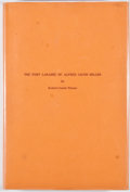 Books:Signed Editions, Robert Combs Warner. INSCRIBED/LIMITED. The Fort Laramie of Alfred Jacob Miller. Laramie: University of Wyoming, 197...
