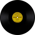 "Music Memorabilia:Recordings, Elvis Presley ""That's All Right""/ ""Blue Moon of Kentucky"" 78 (Sun209, 1954)...."
