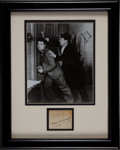 Movie/TV Memorabilia:Autographs and Signed Items, Stan Laurel and Oliver Hardy Framed Autograph....