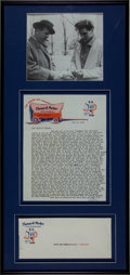 Music Memorabilia:Autographs and Signed Items, Elvis Presley Related - Colonel Tom Parker Signed Letter....