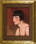 "Movie Posters, Louise Brooks (Circa 1929). Pastel Portrait (17"" X 21"" approx), Framed (26"" X 32""). ... (Total: 2 Items)"