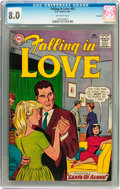 Silver Age (1956-1969):Romance, Falling in Love #65 Savannah pedigree (DC, 1964) CGC VF 8.0Off-white pages....
