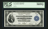 Fr. 772 $2 1918 Federal Reserve Bank Note with Serial Number Five PCGS Choice About New 58PPQ