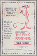 "Movie Posters:Animation, Dial 'P' for Pink (United Artists, 1965). One Sheet (27"" X 41""). Animation.. ..."