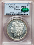 Morgan Dollars, 1878 7/8TF $1 Strong MS62+ Deep Mirror Prooflike PCGS. CAC. PCGS Population (35/73). NGC Census: (22/71). Numismedia W...