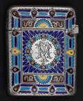 Silver Smalls:Match Safes, A GORHAM SILVER AND ENAMEL MATCH SAFE . Gorham Manufacturing Co.,Providence, Rhode Island, 1886. Marks: (lion-anchor-G), ...