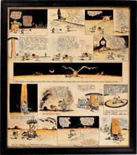 George Herriman Hand Colored Krazy Kat Sunday Comic Strip Original Art dated 6-25-22 (King Features Syndicate, 192