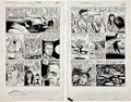 "Original Comic Art:Complete Story, Mike Sekowsky and Mike Peppe The Unseen #14 Complete 2-pageStory ""Death Reaches Out"" Original Art (St..."