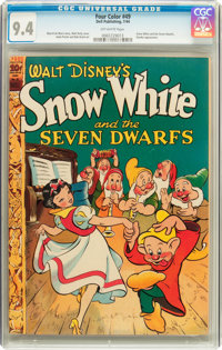 Four Color #49 Snow White and the Seven Dwarfs (Dell, 1944) CGC NM 9.4 Off-white pages