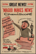 "Movie Posters:Animated, Mr. Magoo Makes News (Columbia, 1956). One Sheet (27"" X 41"").Animated.. ..."
