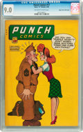 Golden Age (1938-1955):Crime, Punch Comics #17 Mile High pedigree (Chesler, 1946) CGC VF/NM 9.0 Off-white to white pages....
