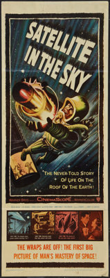 "Satellite In The Sky (Warner Brothers, 1956). Insert (14"" X 36""). Science Fiction"