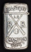 Silver Smalls:Match Safes, A GORHAM SILVER PLATED MATCH SAFE . Gorham Manufacturing Co.,Providence, Rhode Island, 1894. Marks: (anchor), GORHAMCO...