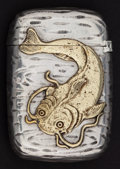 Silver Smalls:Match Safes, A GORHAM SILVER AND SILVER GILT MATCH SAFE . Gorham ManufacturingCo., Providence, Rhode Island, 1887. Marks: (lion-anchor-G...