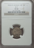 Bust Dimes, 1830/29 10C Medium 10C XF40 NGC. JR-5. NGC Census: (2/29). PCGSPopulation (2/22). Mintage: 510,000. Numismedia Wsl. Price...