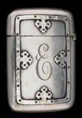 Silver Smalls:Match Safes, A WALLACE SILVER MATCH SAFE . R. Wallace & Sons. Mfg. Co.,Wallingford, Connecticut, circa 1880. Marks: (deer facing left),...