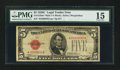 Small Size:Legal Tender Notes, Fr. 1528* $5 1928C Mule Legal Tender Star Note. PMG Choice Fine 15.. ...