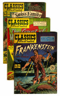 Golden Age (1938-1955):Classics Illustrated, Classics Illustrated Canadian Editions Group (Gilberton, 1948-52)Condition: Average GD.... (Total: 9 Comic Books)