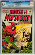 Silver Age (1956-1969):Mystery, House of Mystery #125 Savannah pedigree (DC, 1962) CGC NM 9.4Off-white to white pages....