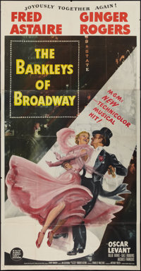 "The Barkleys of Broadway (MGM, 1949). Three Sheet (41"" X 81""). Musical"