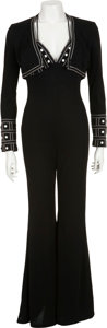 Music Memorabilia:Costumes, Linda Thompson's Black Jumpsuit from Elvis.... (Total: 2 Items)