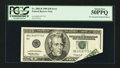 Error Notes:Foldovers, Fr. 2085-B $20 1999 Federal Reserve Note. PCGS About New 50PPQ.....