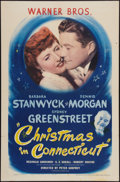 "Movie Posters:Comedy, Christmas in Connecticut (Warner Brothers, 1945). One Sheet (27"" X 41""). Comedy.. ..."