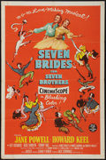 "Movie Posters:Musical, Seven Brides for Seven Brothers (MGM, 1954). One Sheet (27"" X 41""). Musical.. ..."