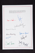 Music Memorabilia:Autographs and Signed Items, Allen Ginsberg and Others Signed Michael Cooper Blinds &Shutters Signed Limited Edition Volume (Genesis/Hedley, 1...