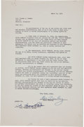 Music Memorabilia:Autographs and Signed Items, Elvis Presley and Colonel Tom Parker Signed Management Contract....