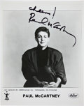 Music Memorabilia:Autographs and Signed Items, Beatles-Related - Paul McCartney Signed Promo Photo....
